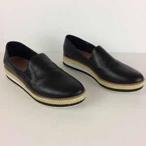 A New Day Black Sisal Slip On Loafers Sz 10
